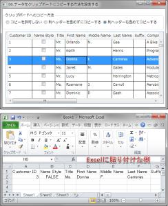データをクリップボードにコピーする例
