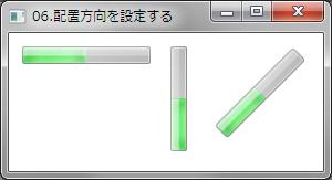WPFで配置方向を設定する例