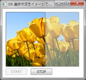 進捗状況をイメージで表示する例