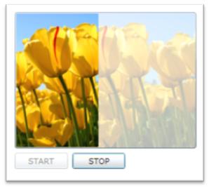 進捗状況をイメージで表示する例(Silverlight)