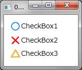 チェックマークにイメージを使用する例