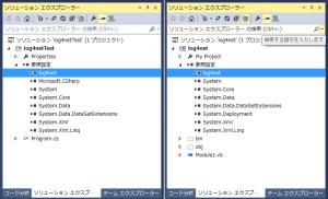 log4net組み込み後のソリューション構成