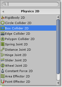Box Collider 2Dの追加