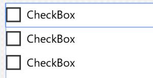 配置したCheckBox