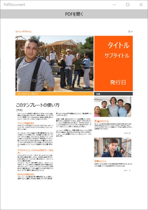 PDF読み込みの実行例