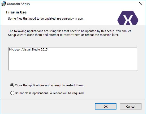 Visual Studio起動中に表示されるダイアログ