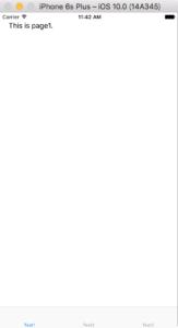 TabbedPageの例(iOS)