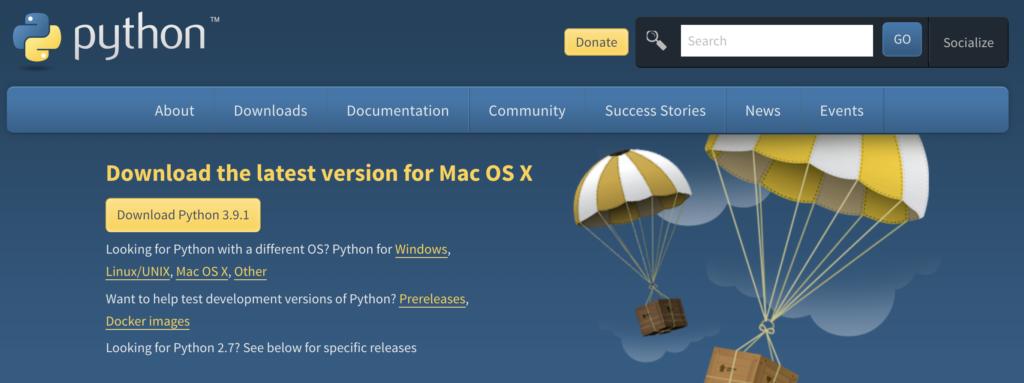 Python 3.9.1 のダウンロード